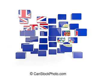 Flag of cayman islands, mosaic background