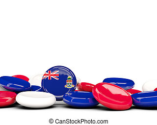 Flag of cayman islands, round buttons