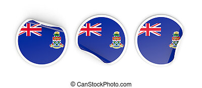 Flag of cayman islands, round labels