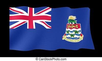 Flag of Cayman Islands. Waving flag