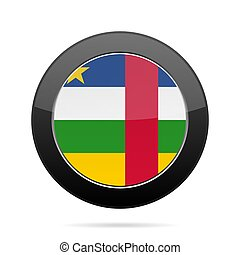 Flag of Central African Republic. Black button.