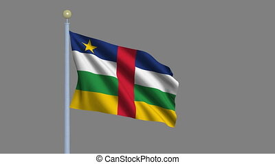 Flag of Central African Republic with alpha matte