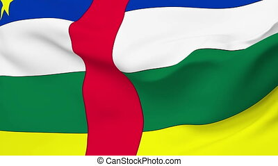Flag of Central African - Flag of the Central African waving...