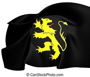 Flag of Ceredigion, Wales.