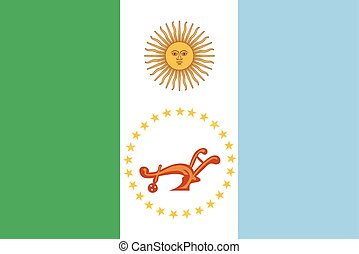 Flag of Chaco Province, Argentina. Vector Format