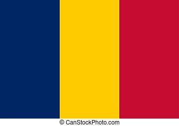 flag of Chad. Vector illustration