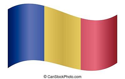 Flag of Chad waving