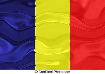 Flag of Chad wavy
