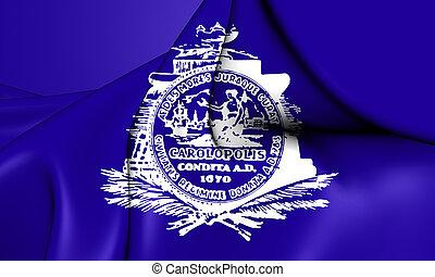 Flag of Charleston (South Carolina), USA. 3D Illustration.