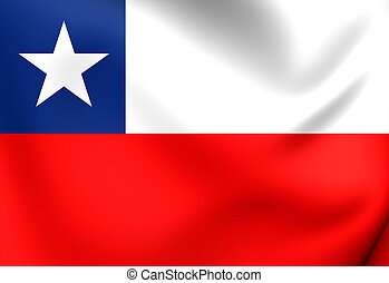 Flag of Chile. Close Up.