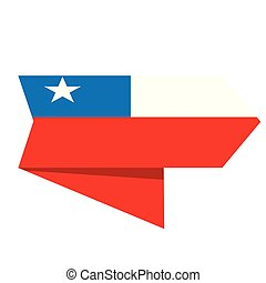 Flag of Chile on a label