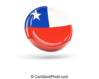 Flag of chile. Round icon