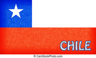 Flag of Chile stitched with letters