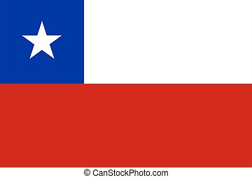 flag of Chile. Vector illustration