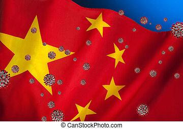 Flag of China - Coronavirus