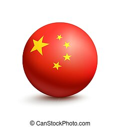 Flag of China in the form of a ball