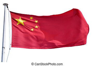 Flag of China isolated on a white background