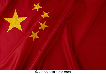 Flag of China - Shot of wavy Chinese flag