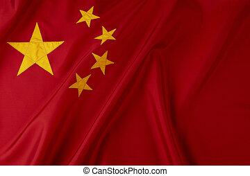 Flag of China - Shot of wavy Chinese flag
