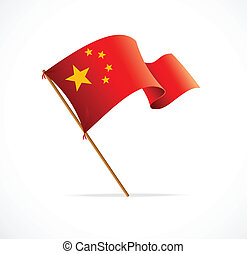 Flag of China, vector illustration