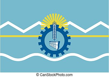 Flag of Chubut Province, Argentina. Vector Format