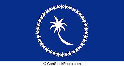 Flag of Chuuk. Vector illustration. World flag