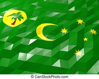Flag of Cocos Islands 3D Wallpaper Illustration