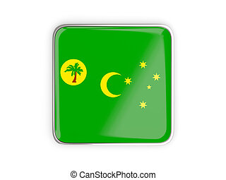 Flag of cocos islands, square icon