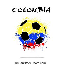 Flag of Colombia as an abstract soccer ball