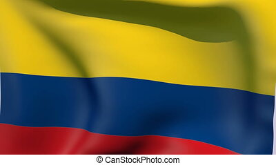 Flag of Colombia - Flags of the world collection - Colombia