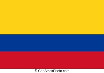 Flag of Colombia in official rate and color vector