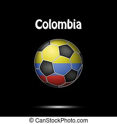 e5b8cc58d Colombia fan sports tee shirt in generic country colors. Colombia ...