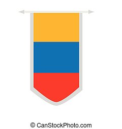 Flag of Colombia on a banner