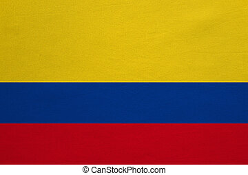 Flag of Colombia real detailed fabric texture
