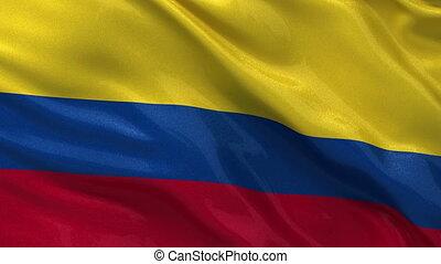 Flag of Colombia seamless loop