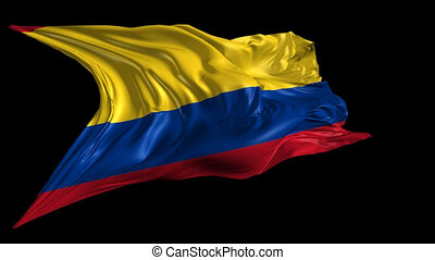 Flag of Colombia - Beautiful 3d animation of Colombia flag...