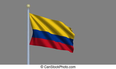 Flag of Colombia with alpha matte