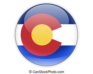 Flag of colorado, US state icon