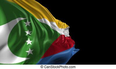Flag of Comoros - Beautiful 3d animation of Comoros flag...