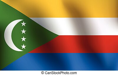 Flag of Comoros - Vector Illustration