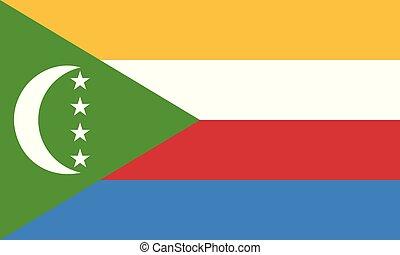 Flag of Comoros. Vector illustration. World flag