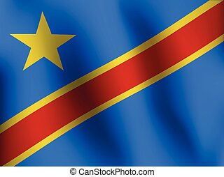 Flag of Congo - Vector Illustration