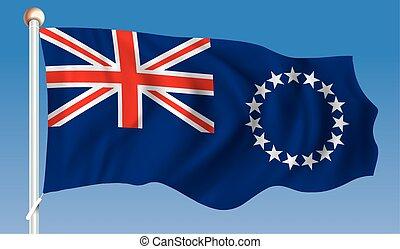 Flag of Cook Islands - vector illustration