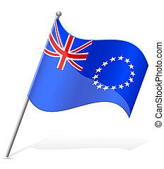 flag of Cook Islands vector illustration