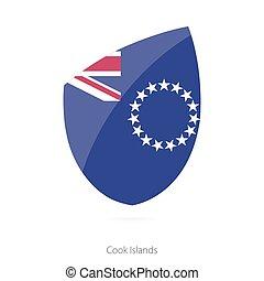 Flag of Cook Islands. Vector Illustration.
