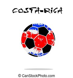 Flag of Costa-Rica as an abstract soccer ball