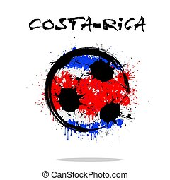 Flag of Costa Rica as an abstract soccer ball