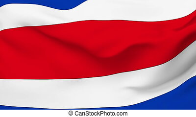 Flag of Costa Rica - Flag of the Costa Rica waving in the...