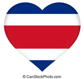 Flag of Costa Rica Heart