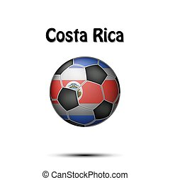 Flag of Costa Rica in the form of a soccer ball